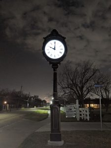 Photo of Clock at Night